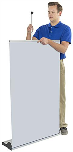 "31"" Roll Up Banner Stand, Vinyl"