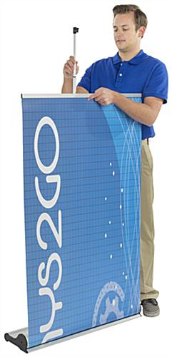 Roll Up Event Banner, Silver
