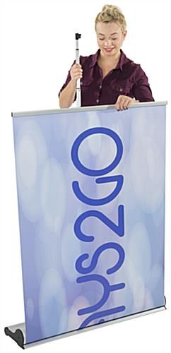 Custom Retracting Banner, Silver