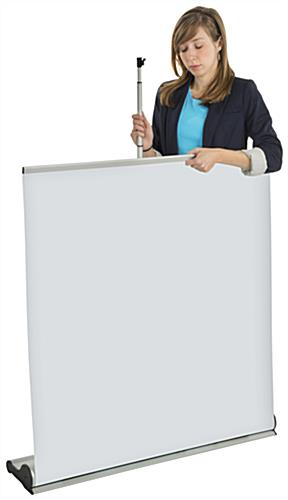 Custom Roll Up Banner Stand, Aluminum