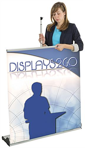 Custom Vertical Banner, Floor Standing