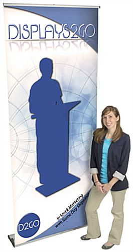 Custom Vertical Banner, Adjustable Height