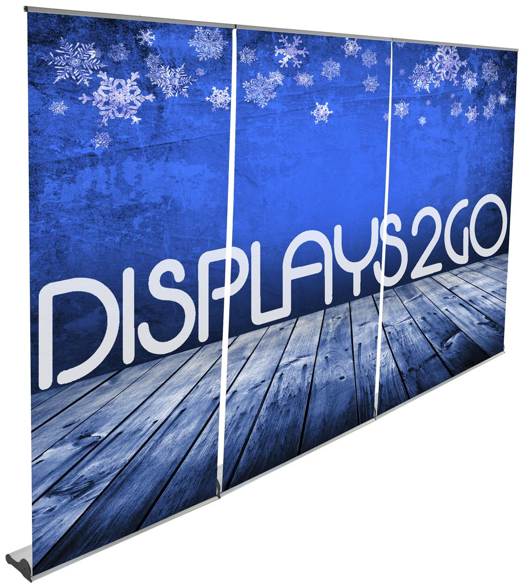 Banner banners banner poles outdoor display cheap custom - 3 Magnetic Connected Banners Custom Graphic On Vinyl Black Carry Bag