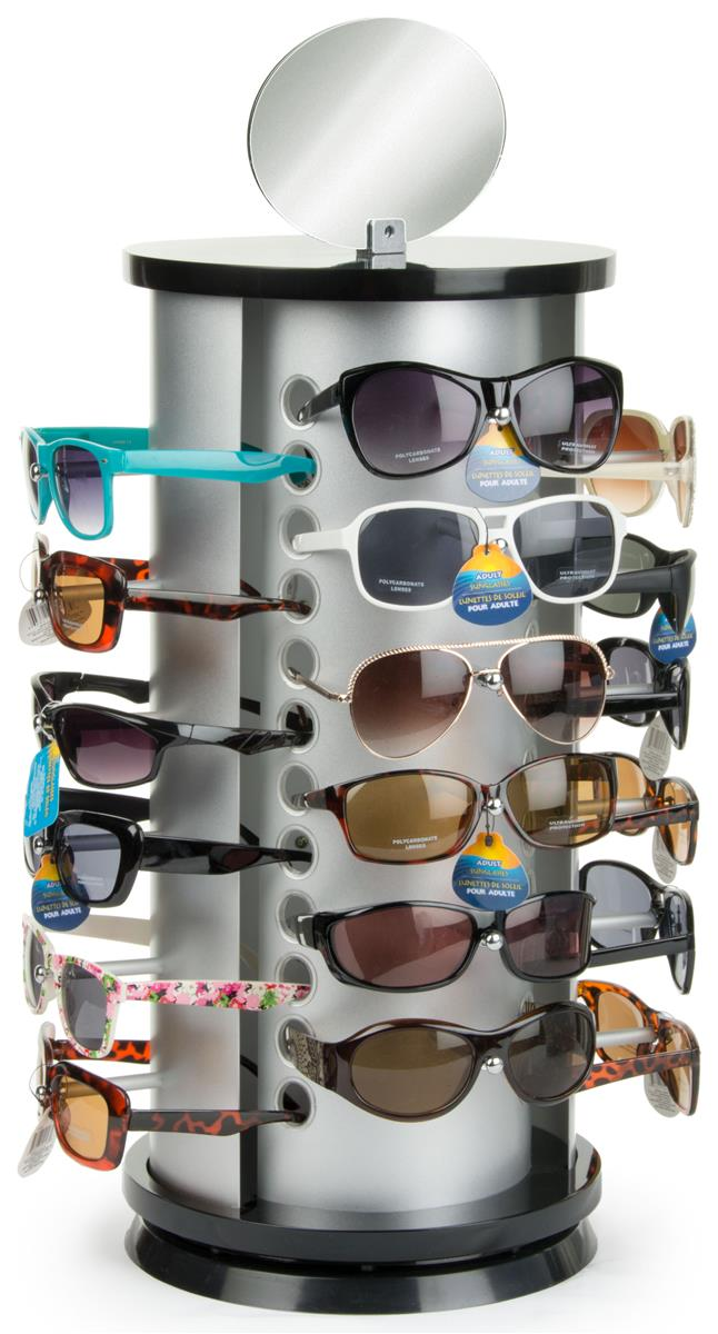Countertop Sunglasses Display   Rotating Stand for (24) Pairs