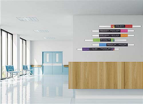 Modular directory signage system with landscape orientation