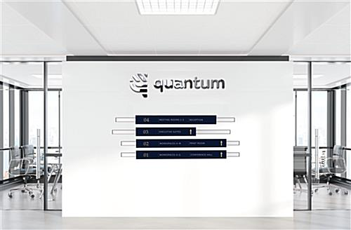 Modular directory signage system with adjustable graphic panels