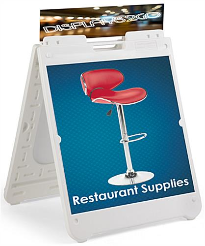 White Square Sandwich Board with Printing