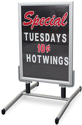 sidewalk signs and other changeable letter advertising sidewalk signs letter kit with silver frame 755
