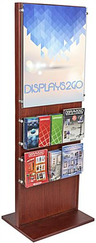 Freestanding Poster Holder With 10 Leaflet Compartments