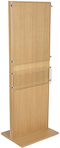 Wooden Poster Stand With 5 Brochure Holders & Dividers