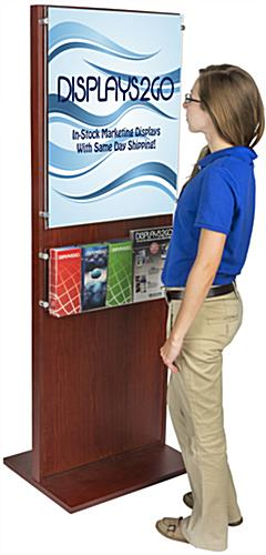 Sturdy Poster Holder With 5 Pamphlet Compartments