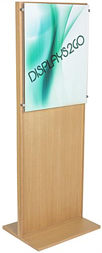 Freestanding Oak Poster Stand With Acrylic Panel