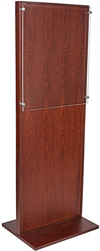 "Freestanding Mahogany Poster Stand for 22"" x 28"" Graphics"