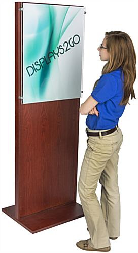 "24"" x 66"" Freestanding Mahogany Poster Stand"