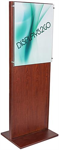 Freestanding Mahogany Poster Stand for Large Visuals