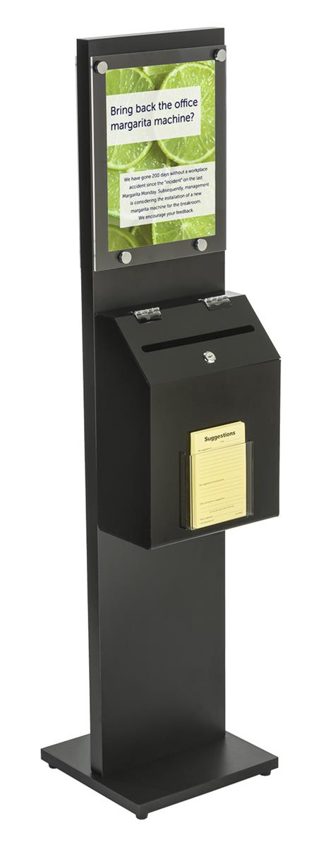 Black Literature Stand With Ballot Box Double Sided Sign
