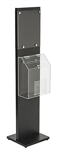 Black Floor Standing Lead Box with Locking Lid