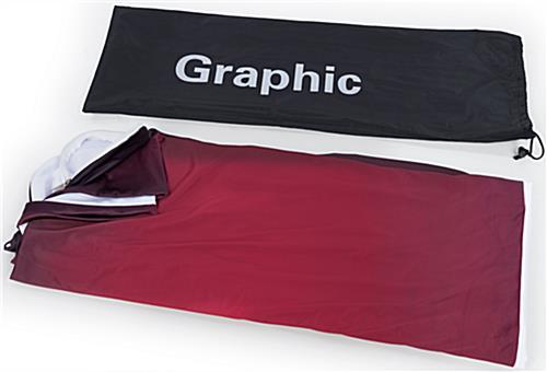 Narrow Curved Fabric Display Backdrop