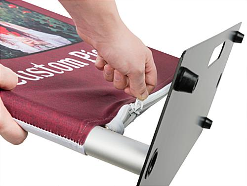 Custom Fabric Banner Stand with Zipper