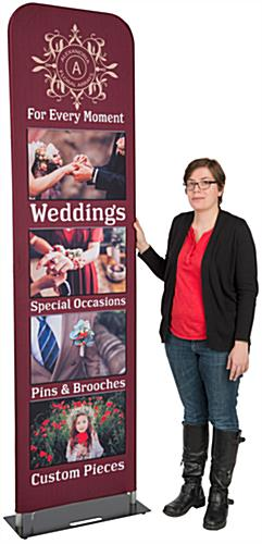 7.5' Tall Custom Fabric Banner Stand