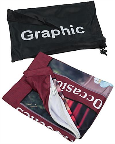 Custom Fabric Banner Stand with Dye-Sub Printing