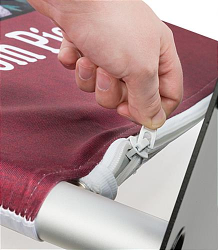 Popup Fabric Banner Stand with Zipper