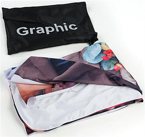 Popup Fabric Banner Stand with Custom Graphic