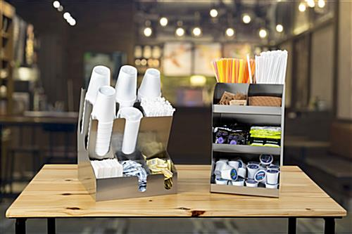 Coffee creamer display and condiment dispenser