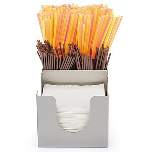 Napkin organizer for beverage stations