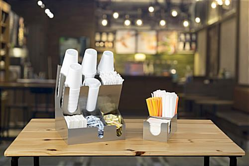 Napkin organizer for restaurants and cafes