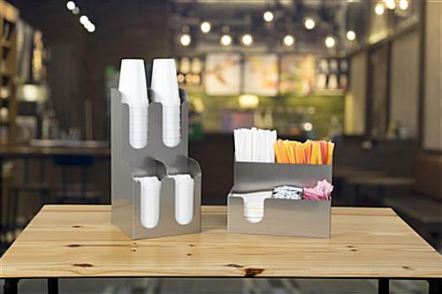 Beverage station organizer for coffee shops