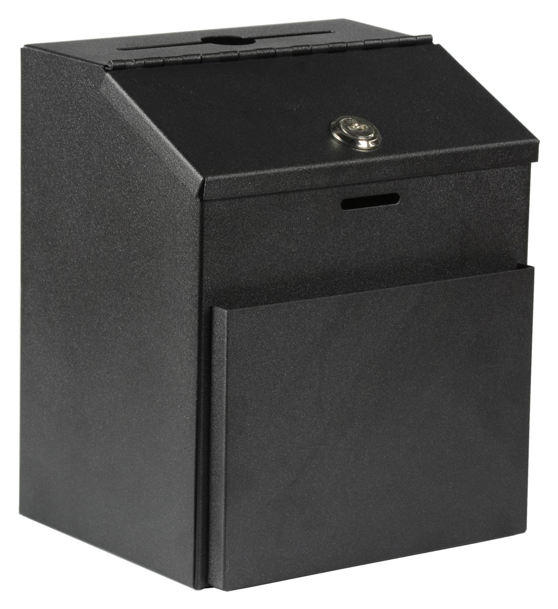 Metal Donation Box Front Slip Holder Amp Top Lock