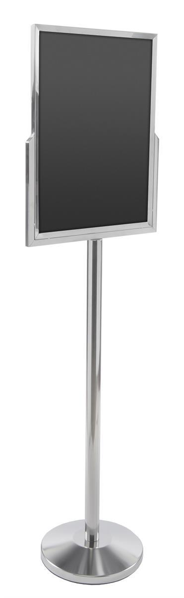 Displays2go 18 x 24 Poster Stand for Floor, Top Insert, D...