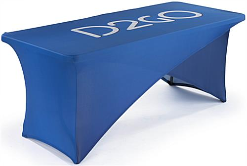 6' Custom Cross Over Spandex Table Cover Set