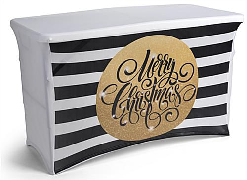 stretchable preprinted holiday table cover