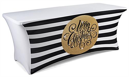 6 Table Cover With Preprinted Holiday Message Stretch Fabric