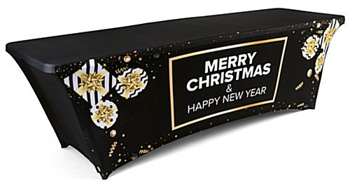 preprinted spandex stretch seasonal table cover with stock artwork and design