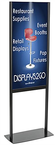 Black Powder-Coated Adjustable Poster Stand