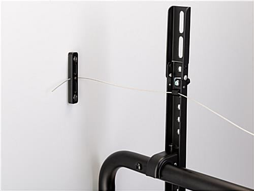 Modern steel easel TV mount with anti-tip metal wire