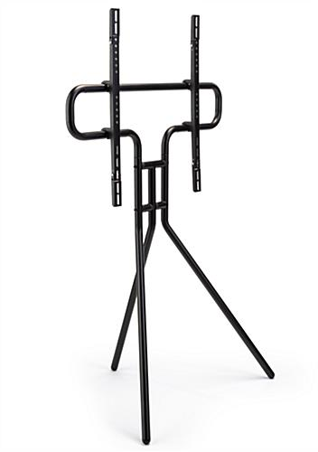 Modern steel easel TV mount with weight capacity of 88 lbs