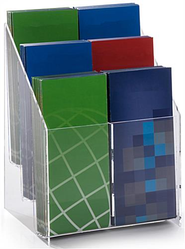 "Acrylic Brochure Rack for 4""w Literature"