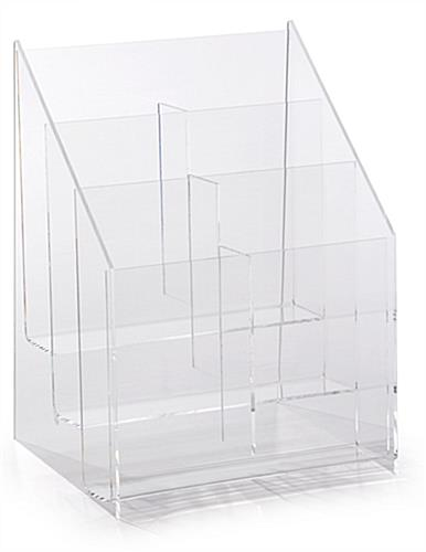 Three-Tiered Acrylic Brochure Rack