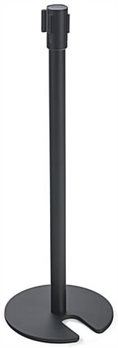 Black Stackable Stanchion for Hotel Lobbies