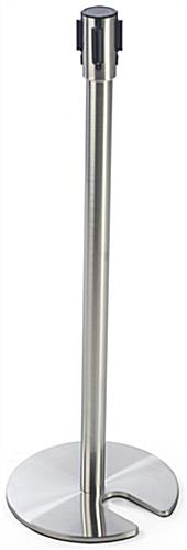 "Silver Stackable Stanchion, 41""h"