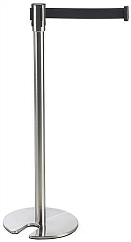 Silver Stackable Stanchion for Corporate Events