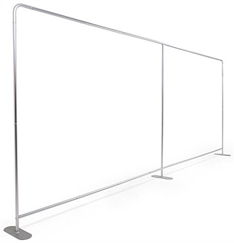 20' trade show package with 20' wide aluminum backwall frame