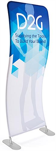 3' Wide Wave Banner Stand with Custom Graphics