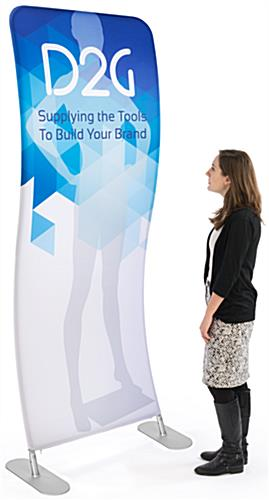 Single Sided 3' Wide Wave Banner Stand for Custom Printing