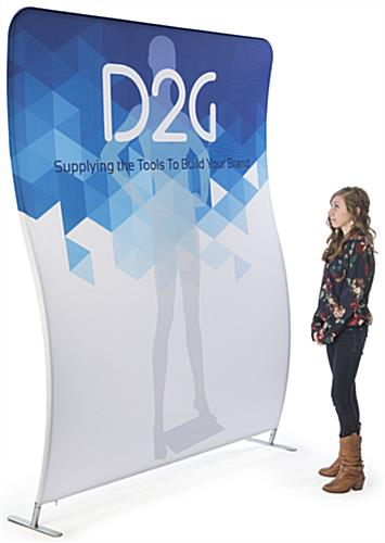 Double Sided 6' Wide Wave Backdrop for Marketing Events