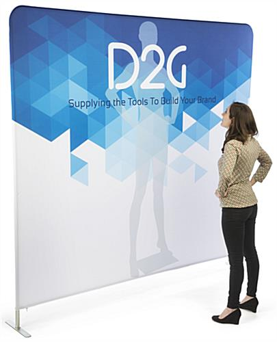 Single Sided 8' Wide Banner Backdrop Includes Stretch Fabric